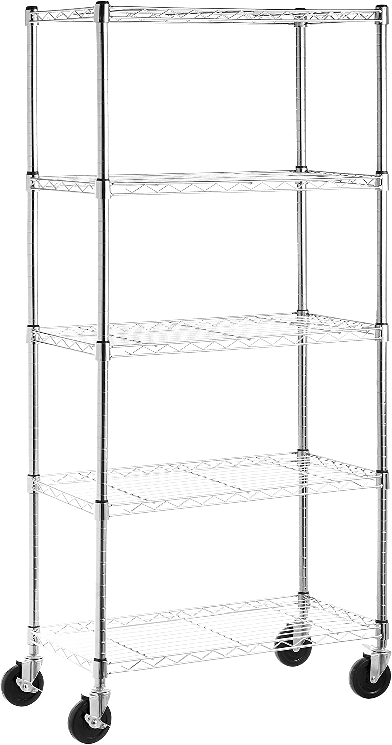 AmazonBasics 5 Shelf Storage Rack