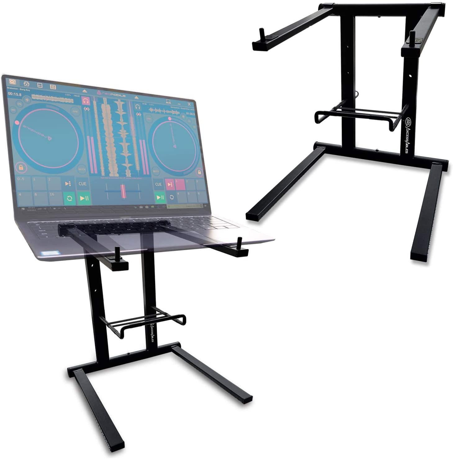AxcessAbles DJLTS-01 Folding DJ Laptop Stand