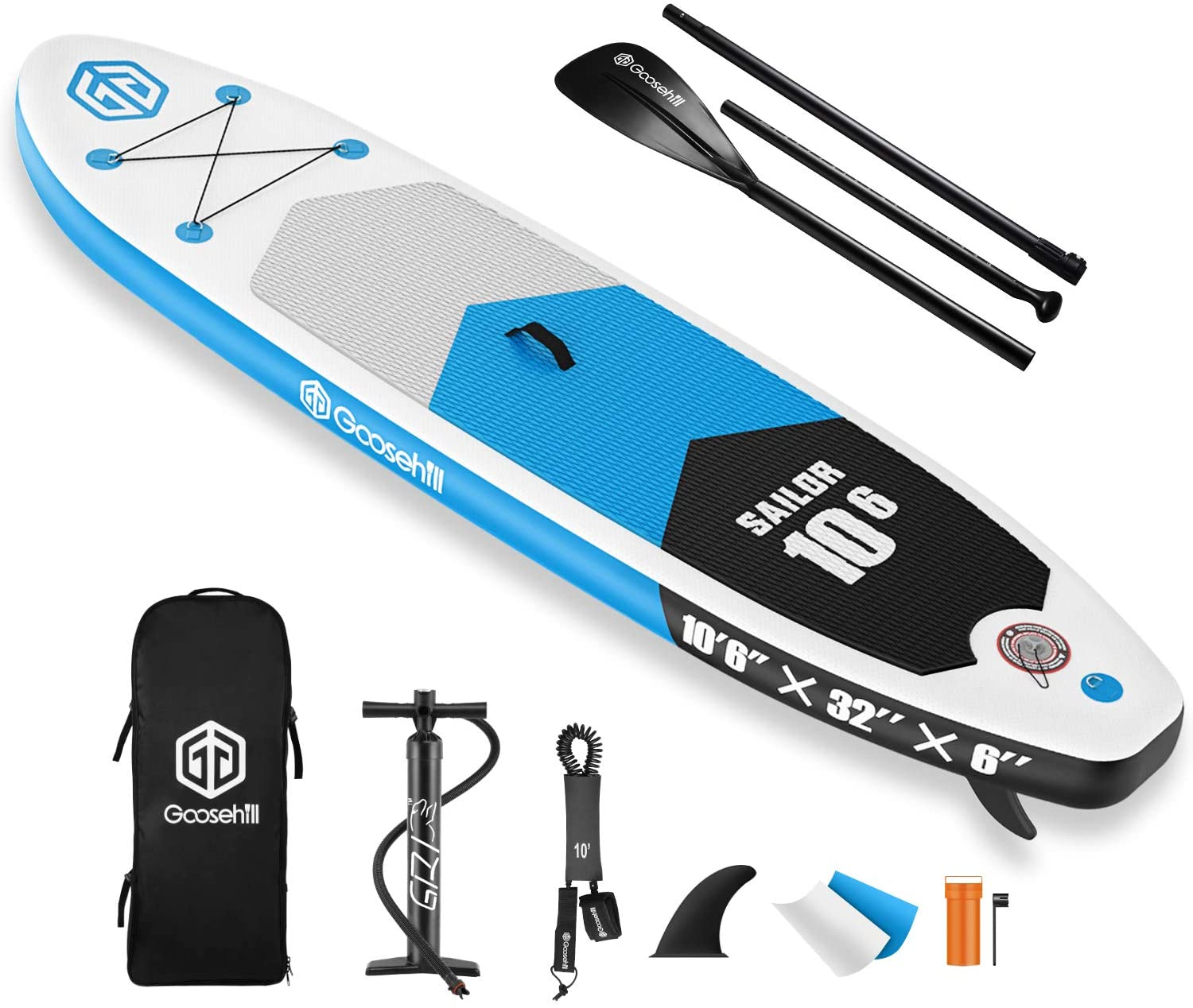 Goosehill Inflatable Stand Up Paddle Board