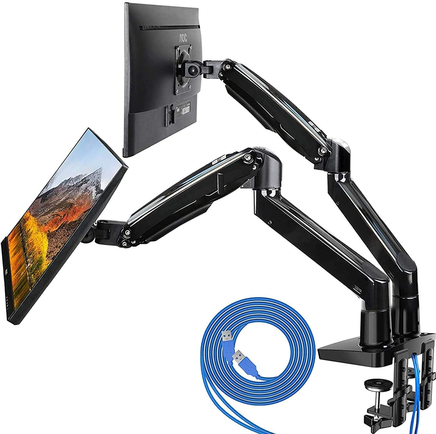 HUANUO Dual Monitor Mount Stand