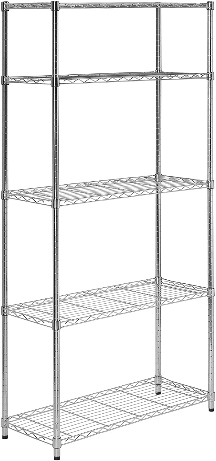 Honey-Can-Do 5-Tier Chrome Heavy-duty Storage rack