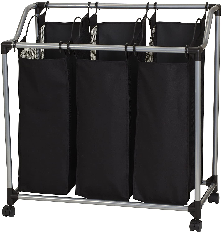 Household Essentials 9117 Triple Laundry Sorter