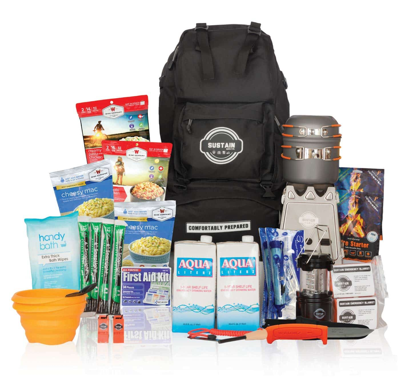 Premium Emergency Survival Kit by Sustain Supply Co.