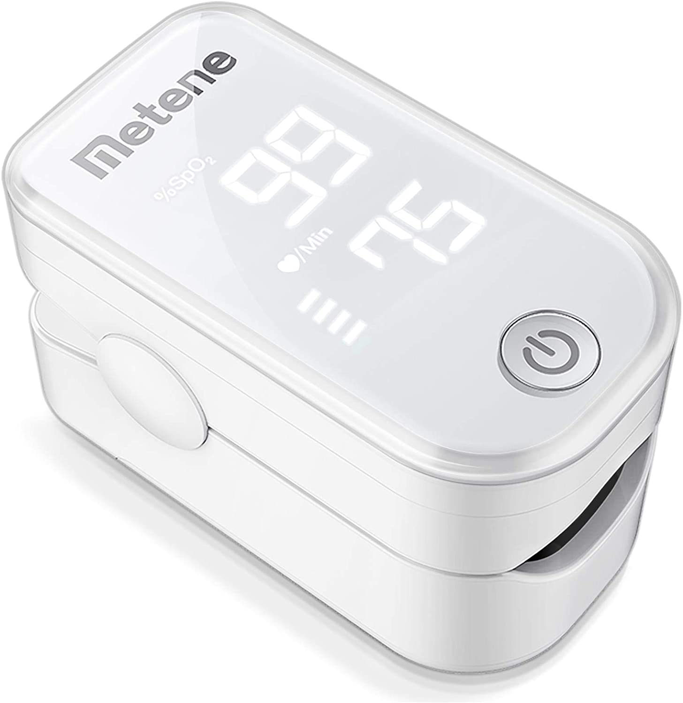 Pulse Oximeter Fingertip Monitor (White) by Metene