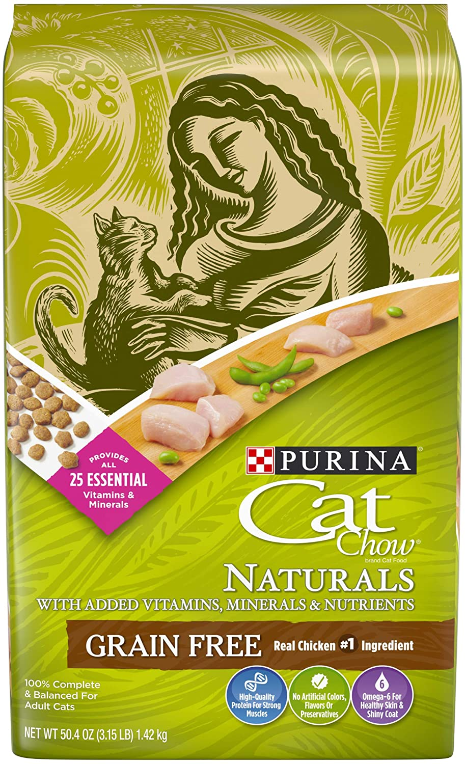 Purina Cat Chow Naturals Grain-Free with Real Chicken Food