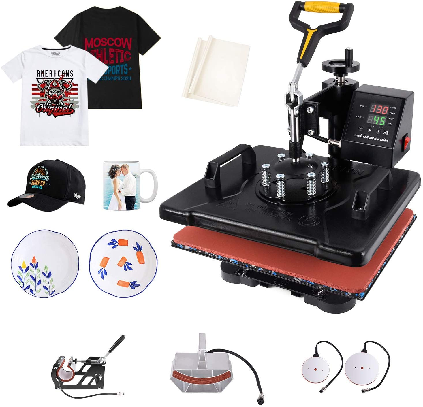 Slendor Heat Press 5 in 1 Heat Press 12x15 inch Machine