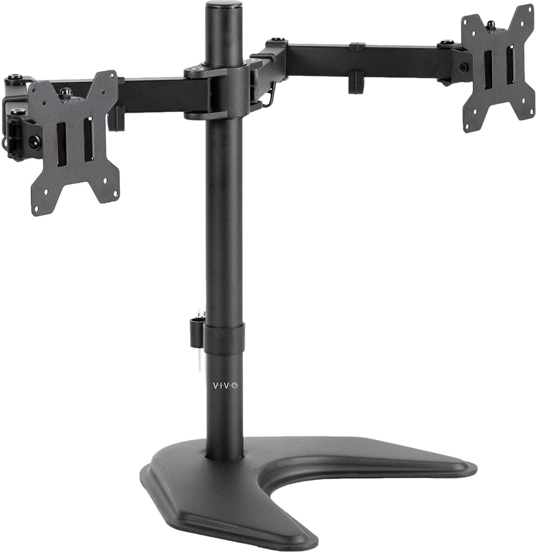 VIVO Dual LED Monitor Desk Stand (STAND-V002F)