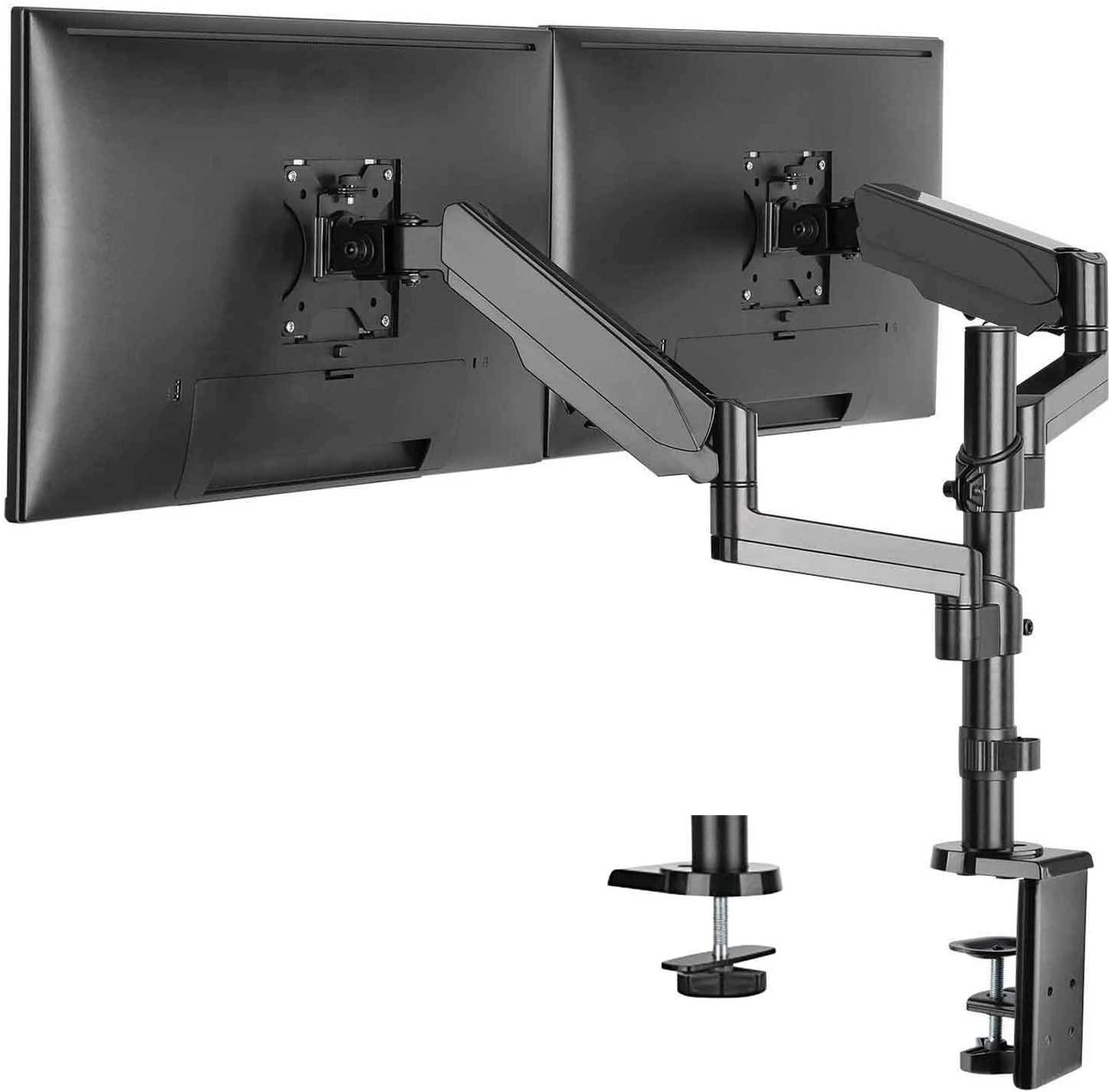 WALI Premium Dual LCD Monitor Stand (GSDM002)