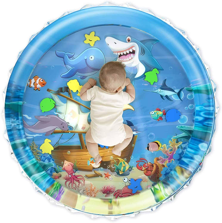 iHaHa 40''X40'' Baby Tummy Time Water Mat