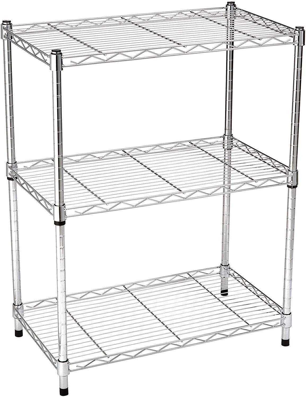 AmazonBasics 3-Shelf Storage Shelving Unit