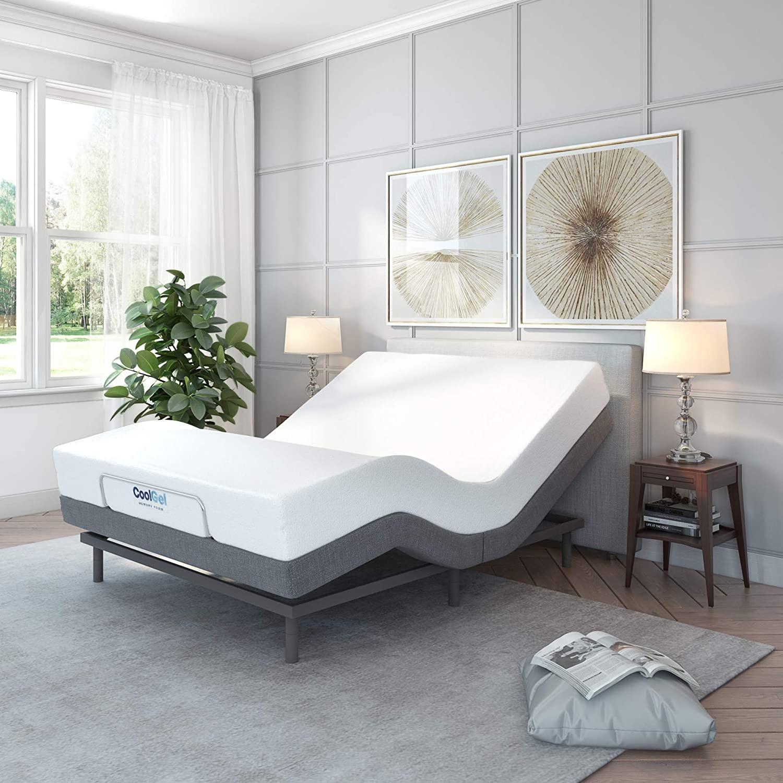 Classic Brands Upholstered Adjustable Bed Base