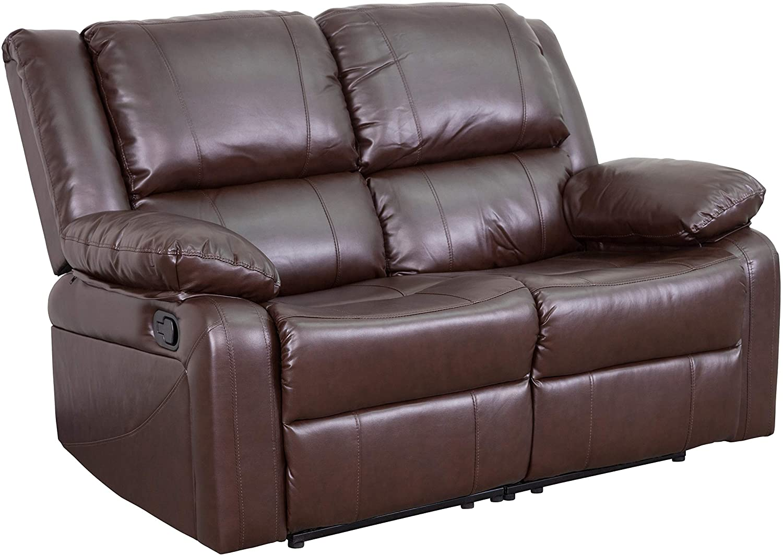 Flash Furniture Leather Recline Loveseat