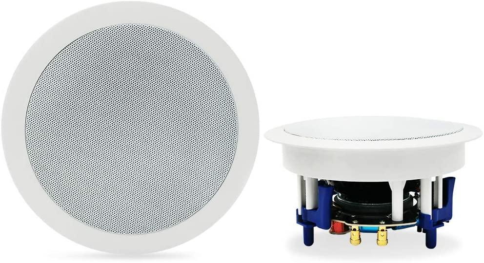 Herdio 5.25-inch Bluetooth Flush Mount In-Ceiling Speaker