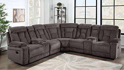 Hollywood Decor Gavar Reclining Sectional Sofa