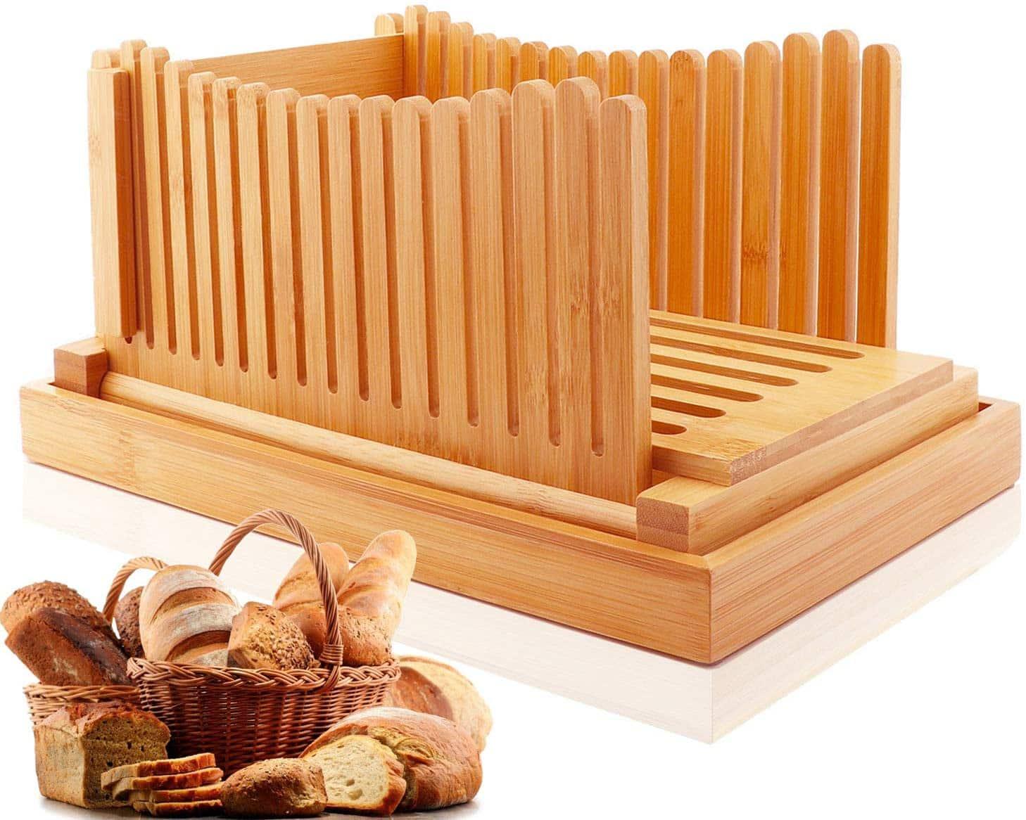 Hsonline Bamboo Bread Slicer