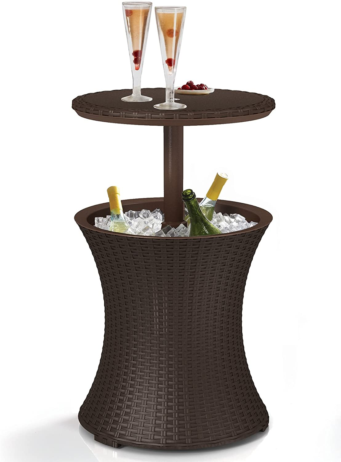 Keter Pacific Cool Bar Outdoor Patio Table Cooler