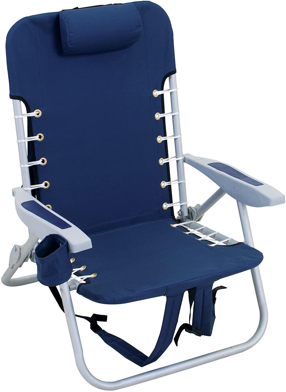 RIO Beach 4-Position Lace-Up Folding Beach Chair