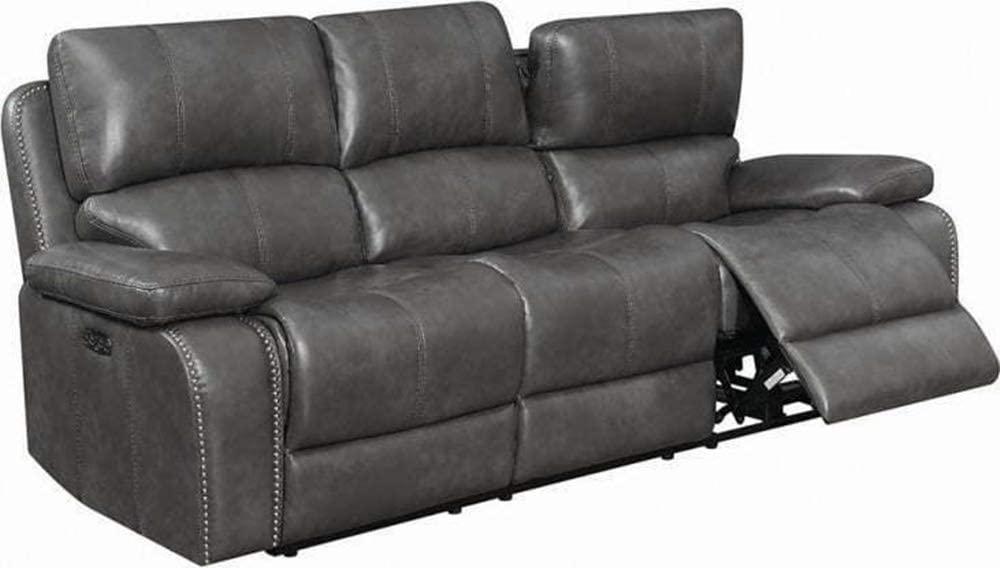 Unik Always Charcoal Grey Leatherette Sofa