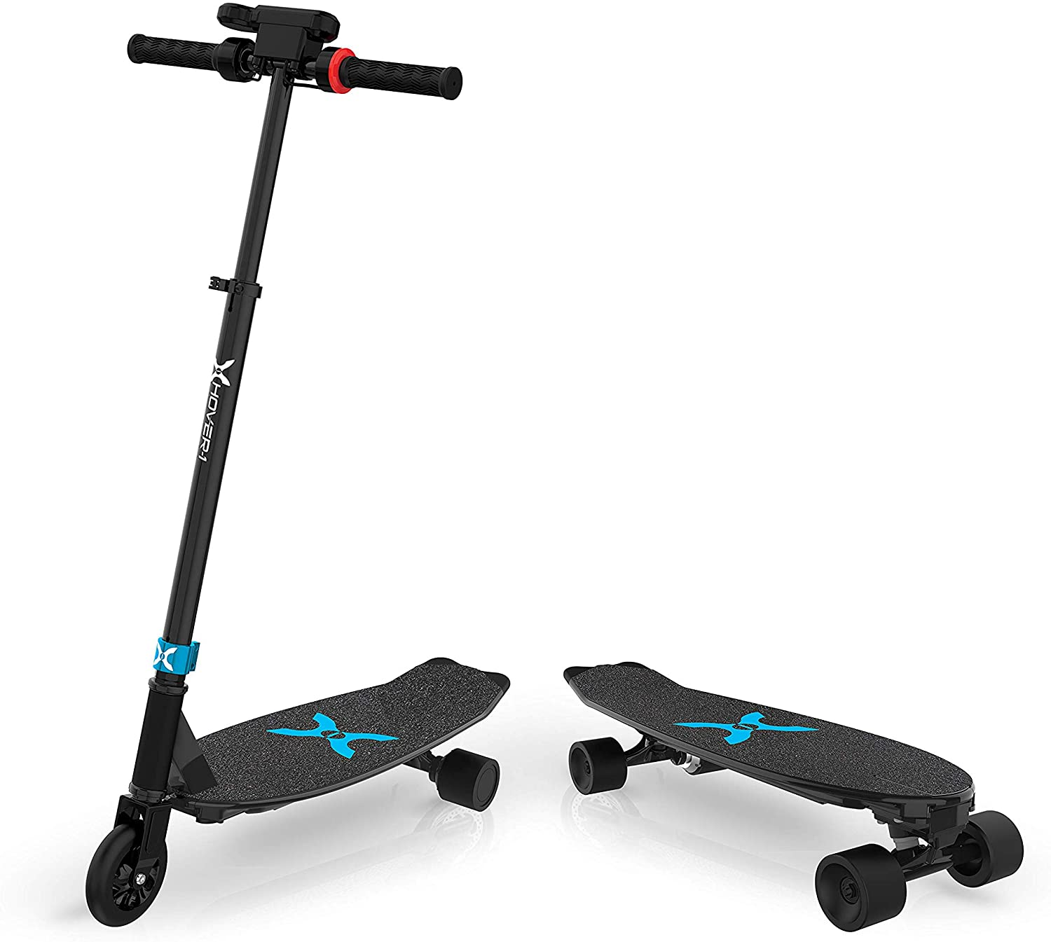 2-in-1 Electric Skateboard and Scooter for Kids