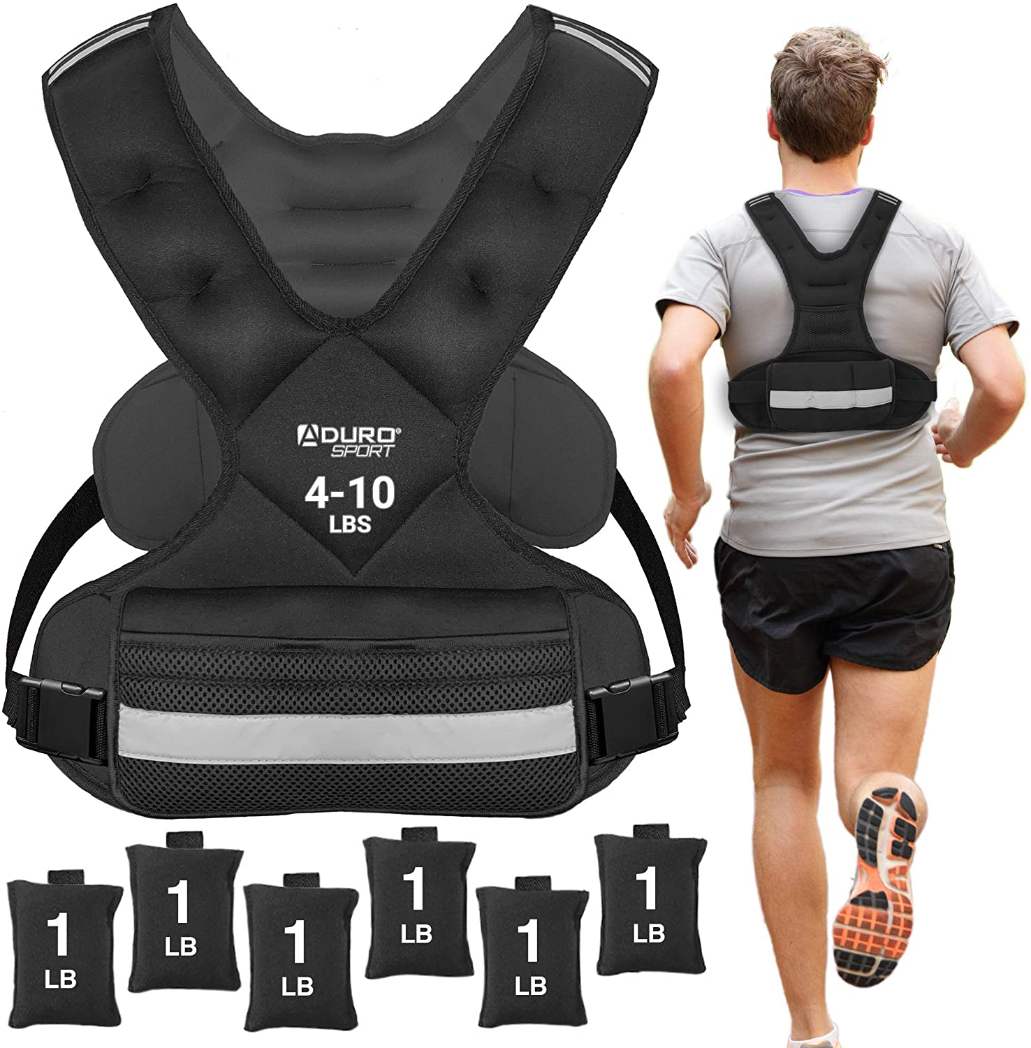 Aduro Sport Adjustable Weighted Vest