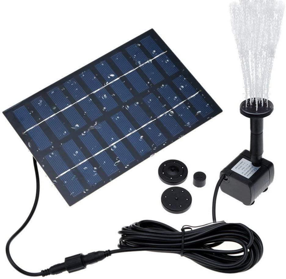 Cosscci Solar Fountain 1.8W Solar Water Pump