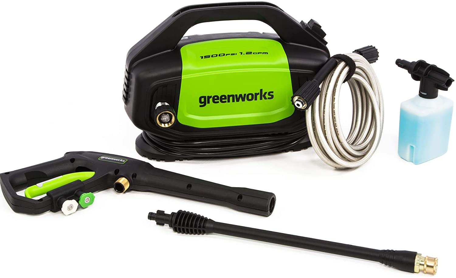 Greenworks GPW1502 1500PSI Electric Pressure Washer - Most Compact