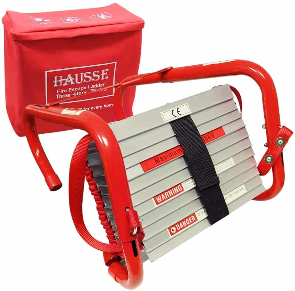 Hausse Retractable 3 Story Fire Escape Ladder- Best 3-story Ladder