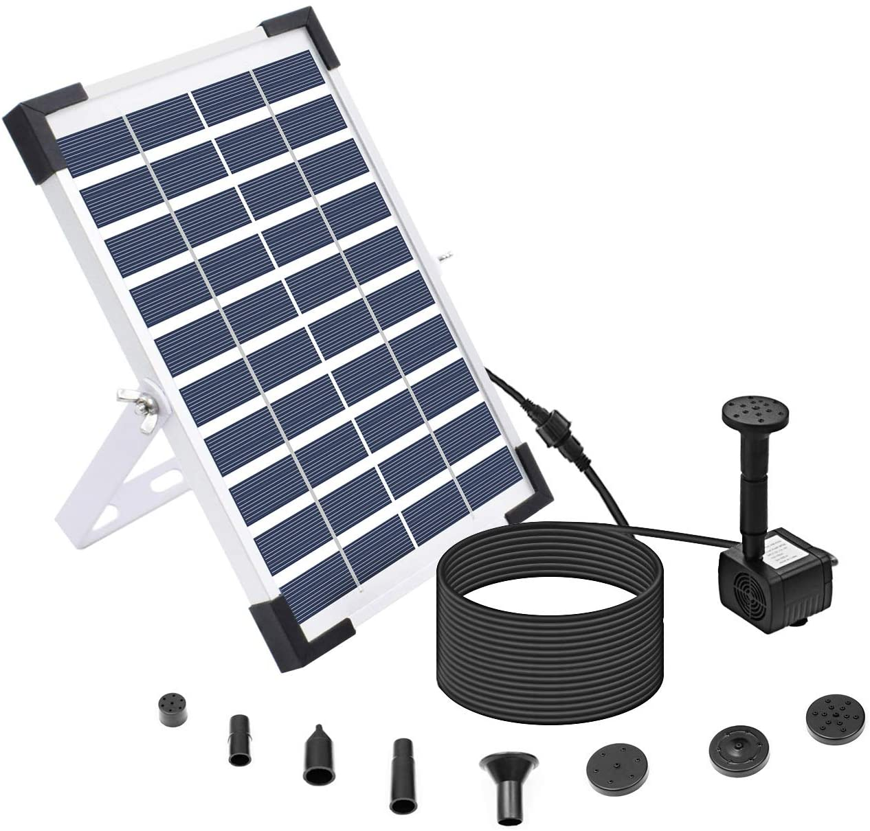 Lewisia 5W Solar Fountain Pump for Pool Koi Pond Water Pump Kit