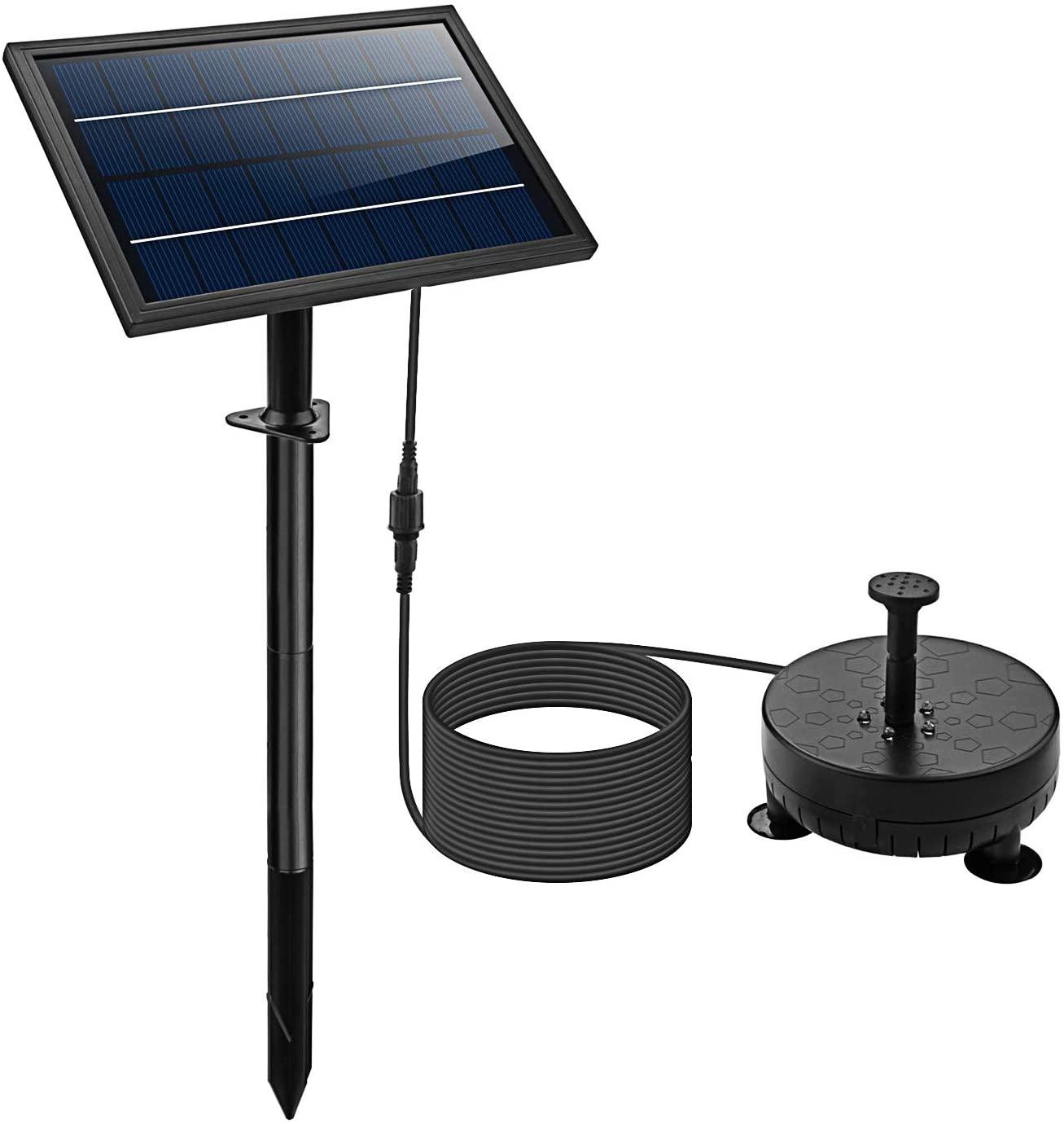 Lewisia Solar Fountain Battery Backup Pump