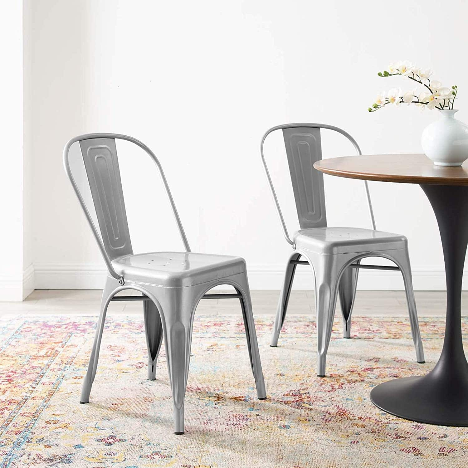 Modway Promenade Industrial Dining Chairs