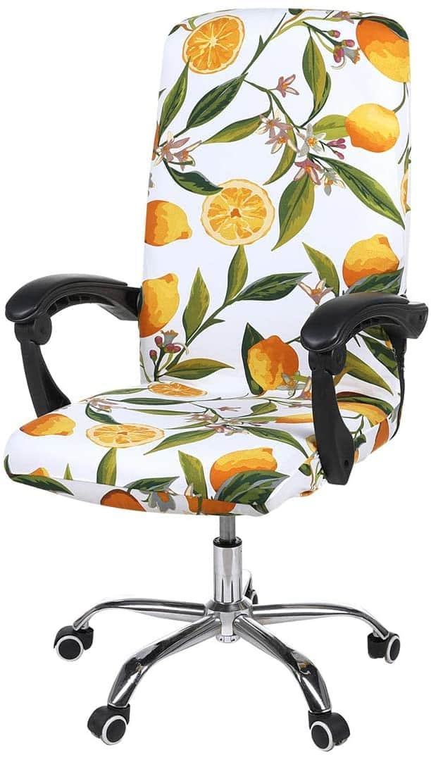 Smiry Stretch Printed Office Chair Cover