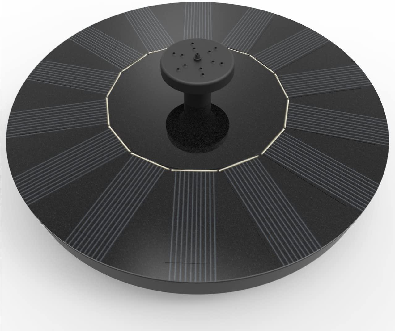 Solatec Black Solar Fountain