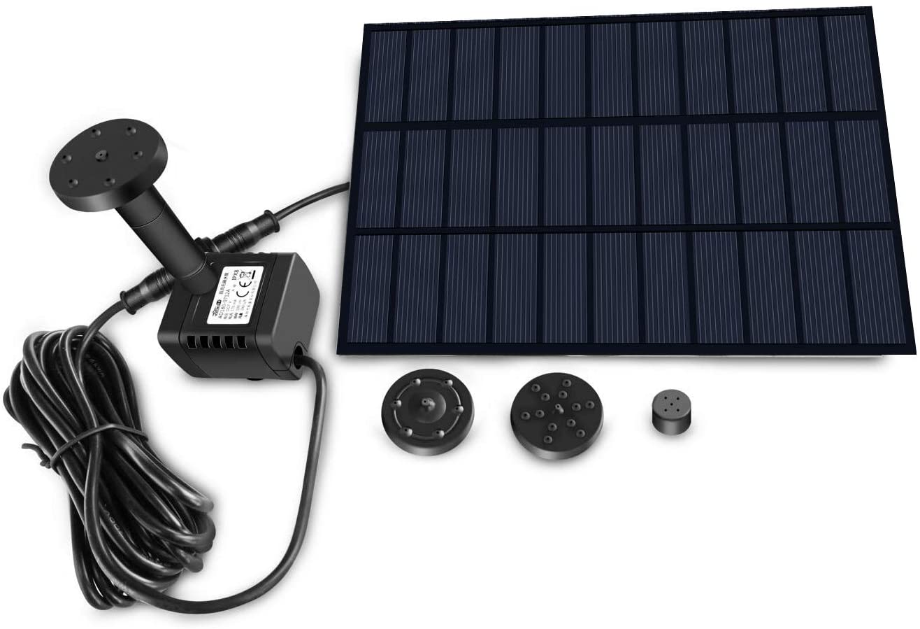 Sunlitec Solar Fountain Water Pump with Panel