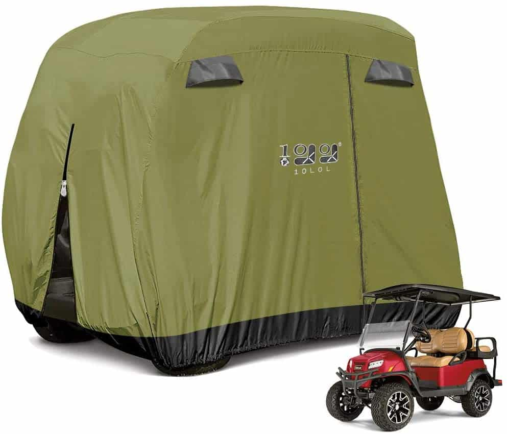 10L0L 4 Passenger Golf Cart Cover