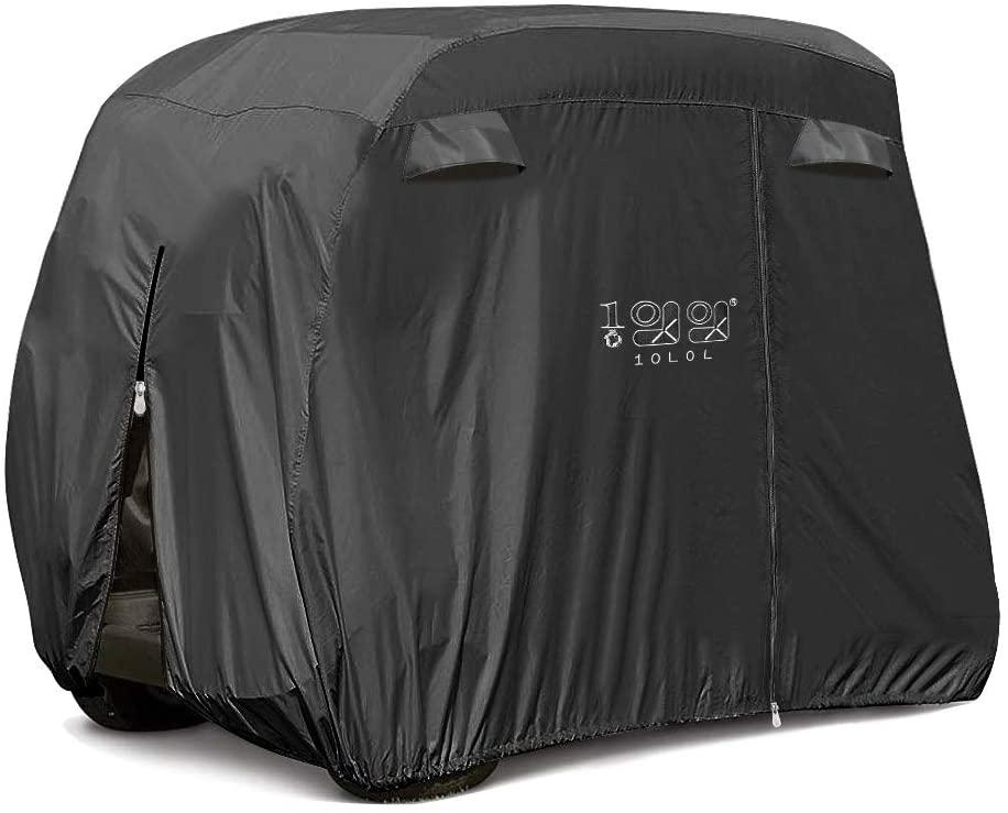 10L0L Universal 2-4 Passenger Golf Cart Cover