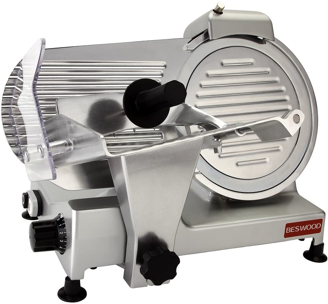 BESWOOD Steel Blade Electric Deli Meat Slicer