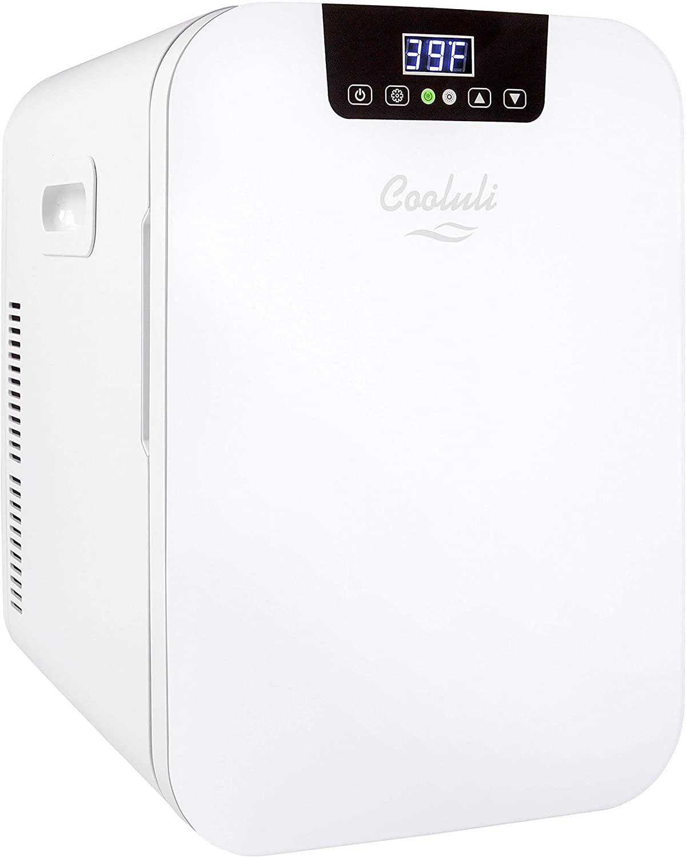 Cooluli Concord White Portable Beverage Cooler