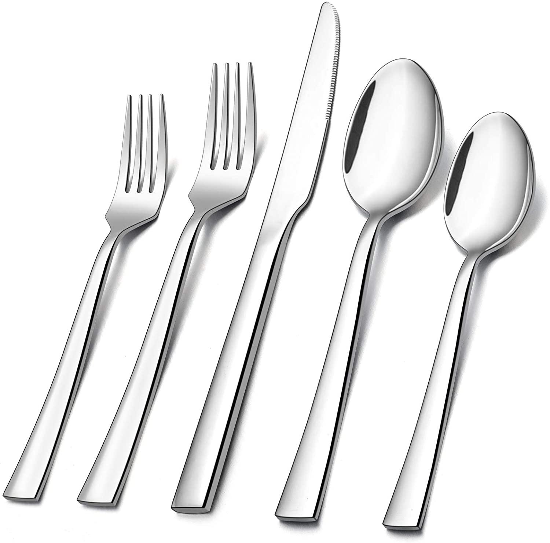 E-far 40-Piece Stainless steel Silverware Flatware Set