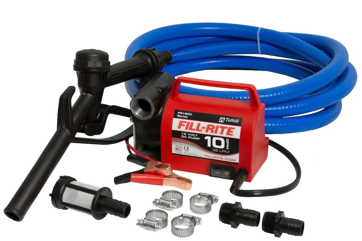 Fill-Rite FR1614 12V 10 GPM Portable Diesel Fuel Transfer Pump