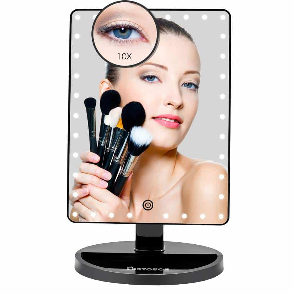FUNTOUCH Large Lighted Vanity Makeup Mirror (X-Large Model)