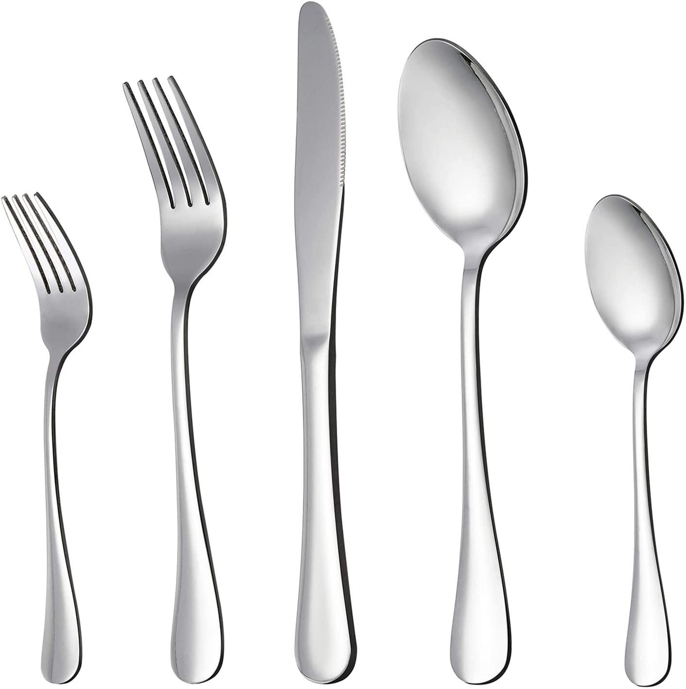 LIANYU 20 Piece Stainless Steel Silverware Set
