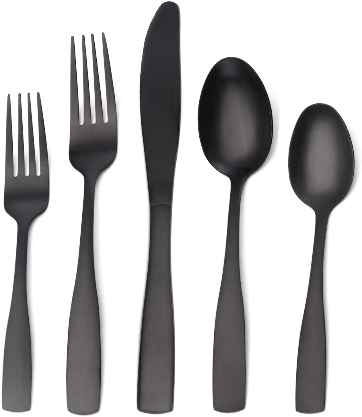O.C.E Matte Black Stainless-Steel Silverware Set