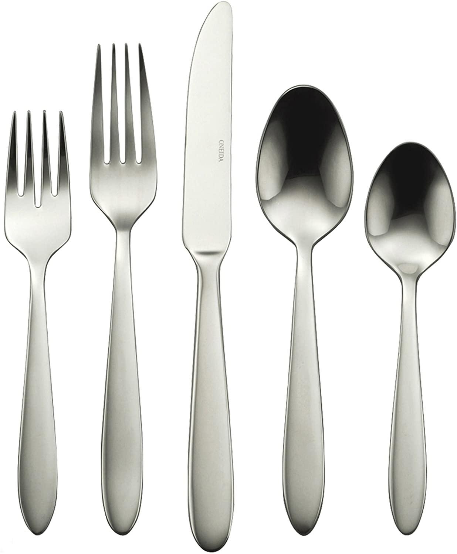 Oneida Mooncrest 45-Piece Stainless steel silverware Flatware Set