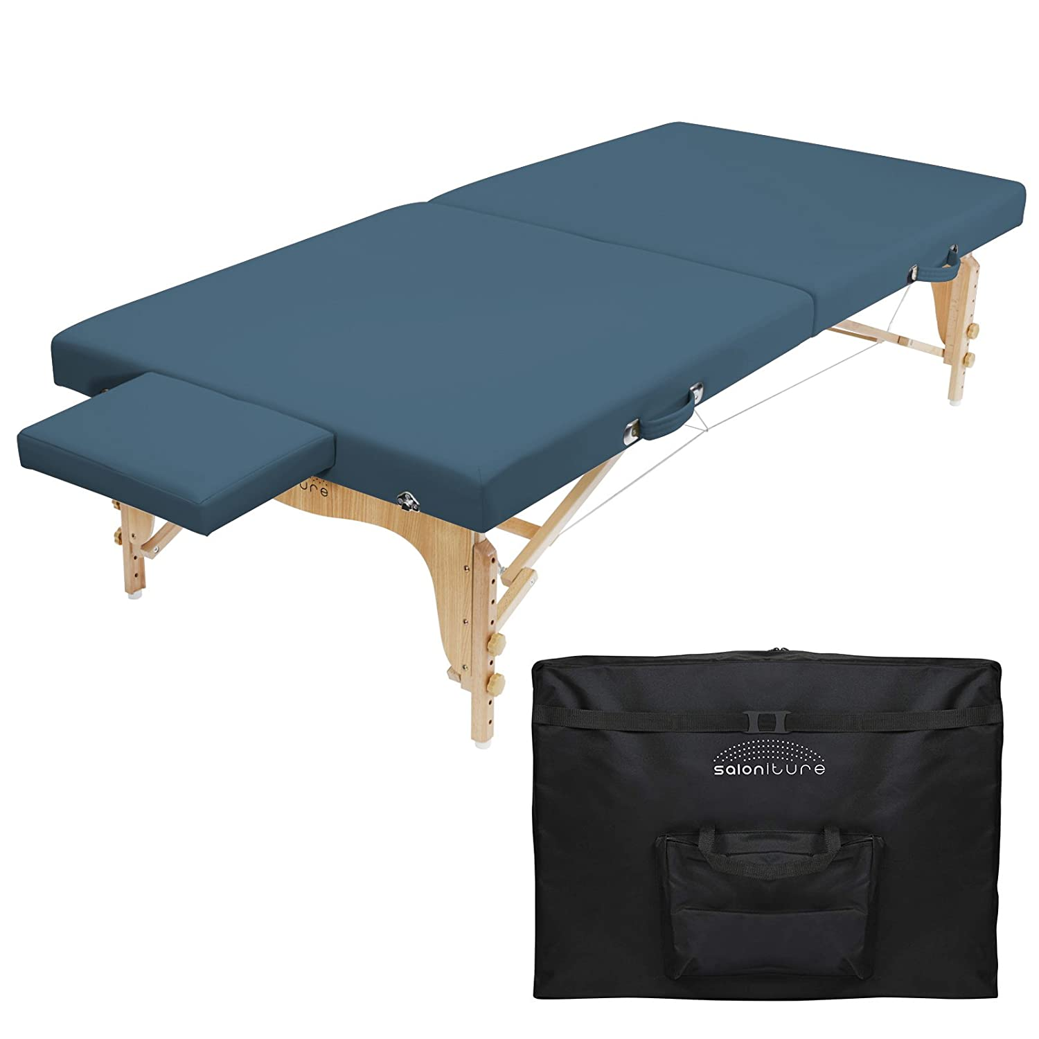 Saloniture Portable Folding Massage Table (Low to Ground Stretching Treatment Mat)