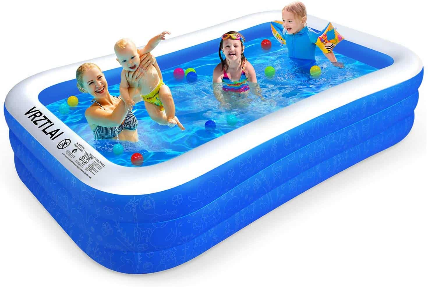 VRZTLAI Family Inflatable Swimming Pool