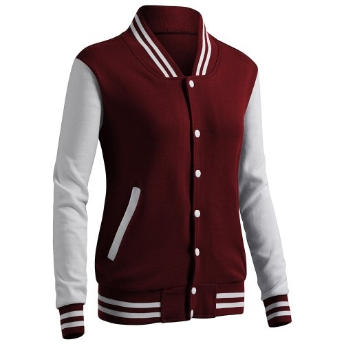CLOVERY Women's Casual Jacket Baseball Button Jacket