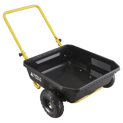 Gorilla Carts GCR-4 4 Cu. Poly Yard Cart