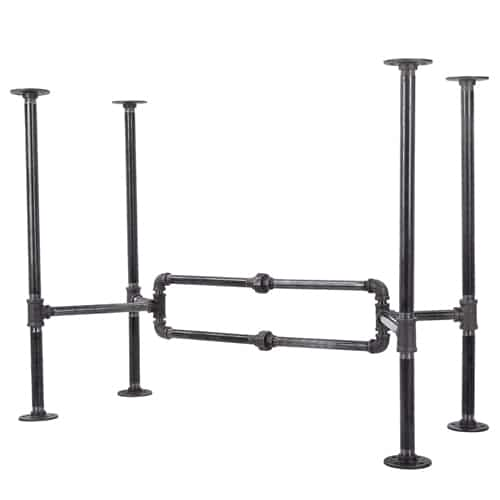 Industrial Pipe Desk Leg Set by Pipe Décor-O-Desk Style