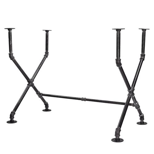 Industrial Pipe Desk Leg Set Pipe Décor-X-Desk Style