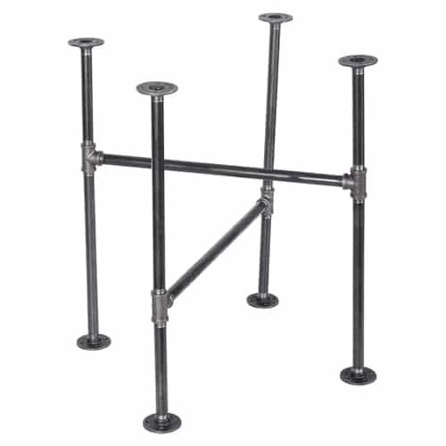 PIPE DÉCOR Industrial Table Rustic Pipe Kitchen Metal Frame